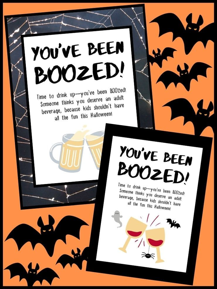 pinnable graphic about free you've been boozed game signs including images