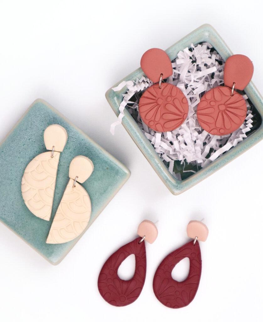 3 sets of colorful DIY earrings