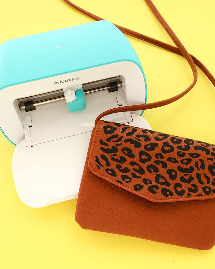 purse with leopard detail