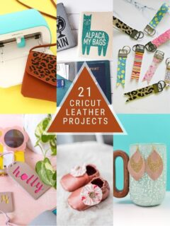 Cricut leather projects