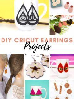 DIY cricut earring projects