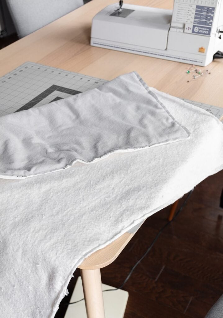 how to sew a double-sided baby blanket